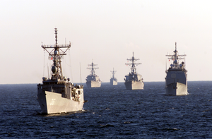 Ships In Formation Image