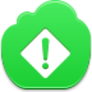Free Green Cloud Exclamation Image