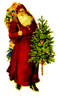 Old Fashioned Christmas Tree Clipart Image