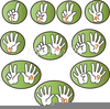 Number One Hand Clipart Image