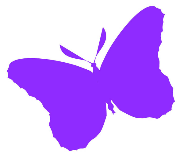 Purple Butterfly Scroll Clip Art At Clker Com: Free Images At Clker.com - Vector