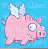 Flying Pig Wearing Goggles Clipart Image
