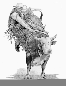 Rodeo Art Drawings Image
