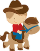 Free Western Clipart Kids Image