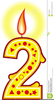 Clipart Birthday Cake Candles Image