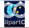 Moon And Stars Clipart Image