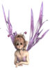 Fantasy Fairy Head Wings Purple Image