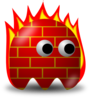 Cartoon Firewall Clip Art