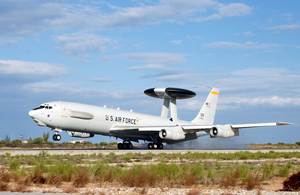 A U.s. Air Force E-3 Sentry Airborne Warning And Control System (awacs) Lands At U.s. Naval Support Activity Souda Bay Image