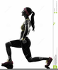 Free Clipart Woman Exercising Image