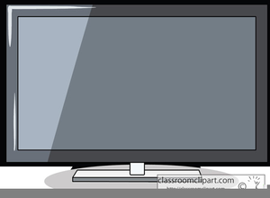 Tv flat screen. Clipart of free images