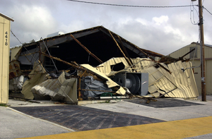 Damages Incurred At U.s. Naval Forces Marianas From The Effects Of Super Typhoon Pongsona Image