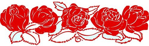 Johnny Automatic Rose Border Red Image
