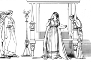 Penelope And The Suitors Image