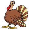 Scared Turkey Clipart Image