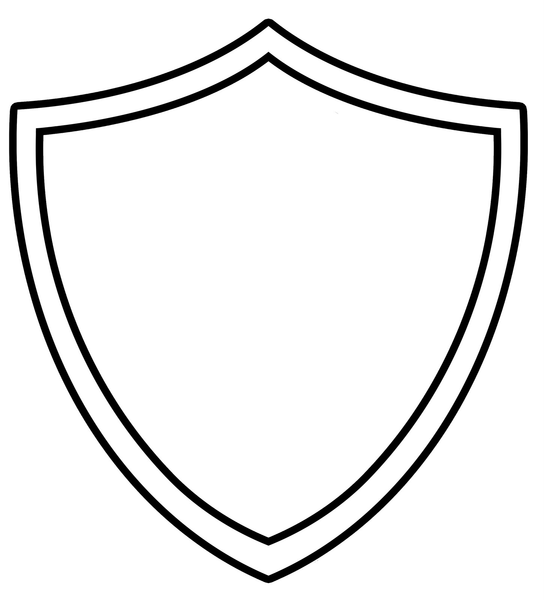 Ctr shield free images at vector clip art for Blank shield template printable