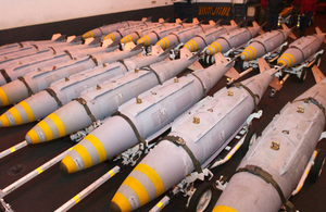 Gbu-31 Joint Direct Attack Munitions (jdam) Are Staged In The Hanger Bay Image