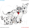 Cats And Dogs Clipart Image