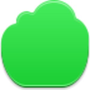 Green Cloud Icon Image