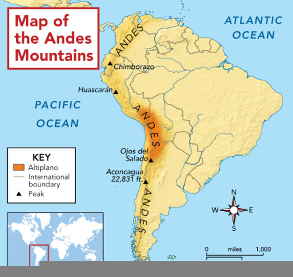 Andes Mountains Map | Free Images at Clker.com - vector clip art ...