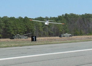 The Aerolight Unmanned Aerial Vehicle (uav) Returns From A Successful, Groundbreaking Flight Image