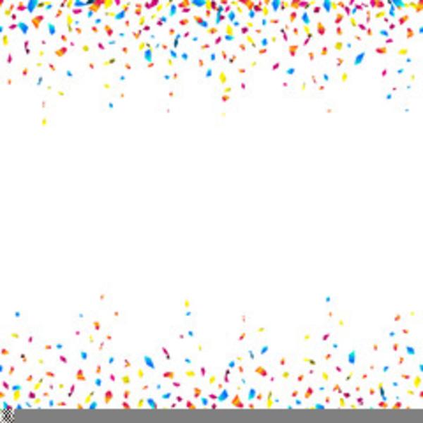 confetti border horizontal