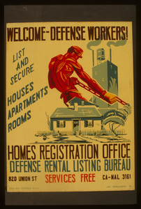 Welcome - Defense Workers! Homes Registration Office : Defense Rental Listing Bureau / Joe Donaldson, Jr. Image