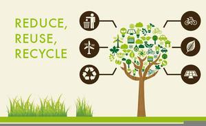 Free Clipart Reduce Reuse Recycle Image
