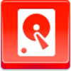 Free Red Button Icons Hard Disk Image