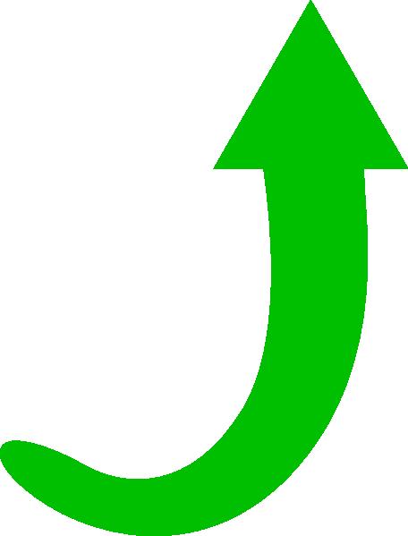 green arrow curve clip art at clkercom vector clip art