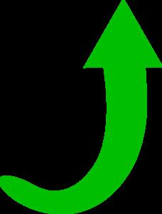 Green Arrow Curve Clip Art at Clker.com - vector clip art ...
