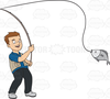 Free Cartoon Fishing Clipart Image