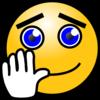 Smiley-Face Waving Goodbye Clip Art