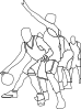 Basketball Game Outline Clip Art