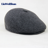 Lws Winter Elderly Men Hat Newsboy Cap Flat Beret Cap For Male Thick Wool Beret Image