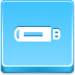 Free Blue Button Icons Flash Drive Image