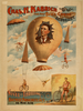 Chas. H. Kabrich, The Only Bike-chute Aeronaut Novel And Thrilling, Bicycle Parachute Act In Mid-air. Image