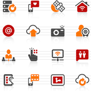 Digital Communication Icons Image