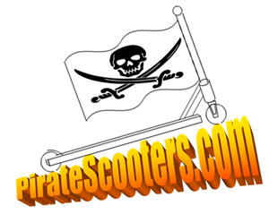 Pirate Scooters Logo With Skull Image