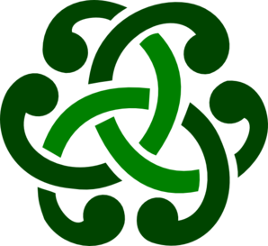 Green Celtic Ornament  Clip Art