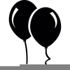 Balloon Clipart Black And White Free Image