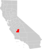 California County Map Kings County Highlighted Clip Art