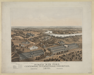 Bird S Eye View. Centennial International Exhibition. 1876 Image