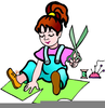 Children Doing Arts And Crafts Clipart Image