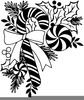 Stocking Clipart Black And White Image
