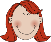 Womans Face With Red Hair Clip Art