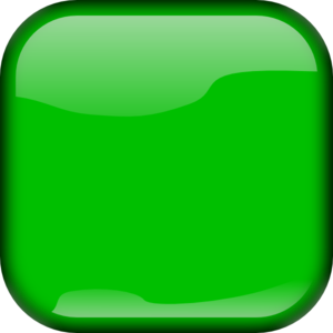 Green Square Button Clip Art