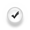 Black White Pearl Icon Symbols Shapes Check Mark Ps Image