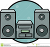 Stereo Clipart Image