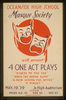 Oceanside High School Masque Society Will Present 4 One Act Plays  Riders To The Sea,   When The Horns Blow,   A New School For Wives,  And  A Minuet  Image